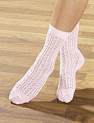 Horgolt női zokni, 4 pár