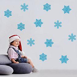 Karácsonyi faldekoráció - kék hópelyhek