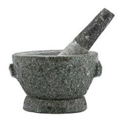 Mozsár, kő fűszermozsár, 18 cm