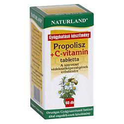 Naturland Propolisz + C-vitamin tabletta, 20 db