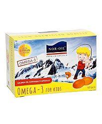 Nor-oil lazacolaj omega 3 kapszula gyermekeknek, 60 db