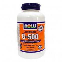 Now C-vitamin 500 mg cseresznye ízű rágótabletta, 100 db
