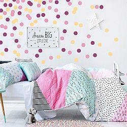 Öntapadó falmaricák - vidám rózsaszín konfetti