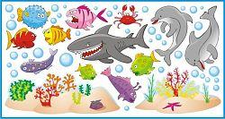 Öntapadó falmatricák - tengeralatti világ