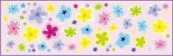 Öntapadó falmatricák - virágocskák