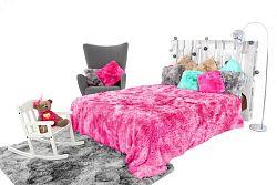 Pléd és ágytakaró ELMO ombre pink