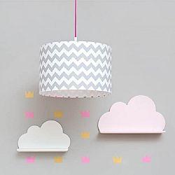 Polc - felhőcske - rózsaszín