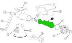 Pótalkatrész kézi préshez - spirál préshenger
