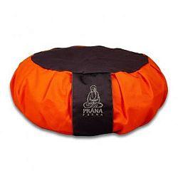 PRANA Narancs -Szürke zafu huzat 36x12 cm kerek jóga ülőpárnához