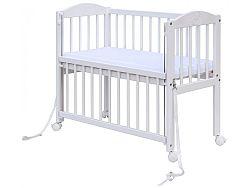 Rácsos babaágy szülői ágyhoz BABY SCARLETT - fehér