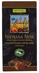 Rapunzel bio Nirwana Noir keserű töltött csokoládé, vegán, 100 g