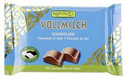 Rapunzel Cristallino bio tejcsokoládé, 100 g