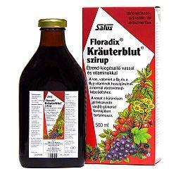 Salus Krauterblut Floradix étrendkiegészítő szirup vassal és vitaminokkal, 500 ml