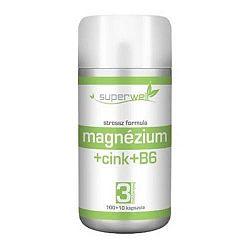 Superwell magnézium-cink-b6 kapsz. 110db
