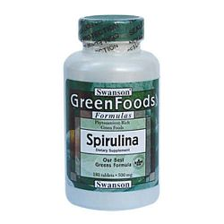 Swanson Spirulina alga tabletta, 500mg, 180 db