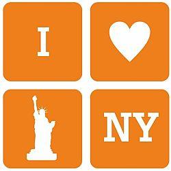 Textil faldekoráció - New York