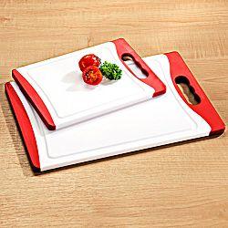 Vágódeszka - fehér-piros - velikost 29x20cm