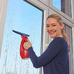 Vezeték nélküli ablakmosó - piros színben