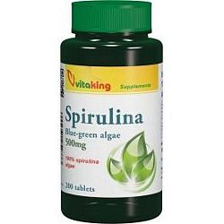 Vitaking 100% Spirulina alga 500 mg tabletta, 200 db