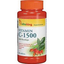 Vitaking C-vitamin 1500 mg tabletta csipkebogyóval, 60 db