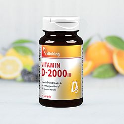 Vitaking D-2000 vitamin, 90 gélkapszula