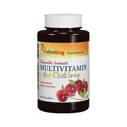 Vitaking Gyerek Multivitamin meggyes rágótabletta, 90 db