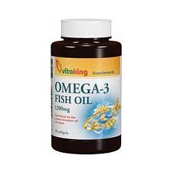 Vitaking Omega-3 1200 mg halolaj, 90 db lágyzselatin kapszula
