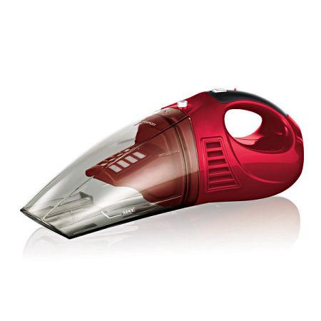 Akkumulátoros kézi porszívó - piros színben