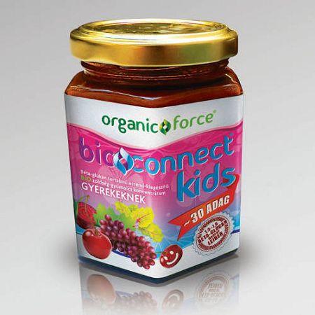 Bioconnect Kids szuperlekvár, béta-glükán tartalmú BIO gyümölcs-zöldség koncentrátum gyerekeknek 210 g