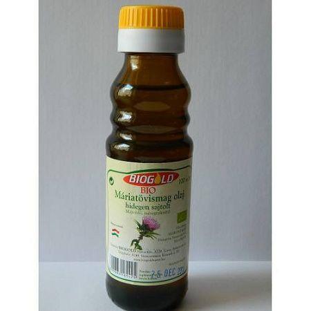 Biogold bio Hidegen sajtolt máriatövismag olaj, 100 ml