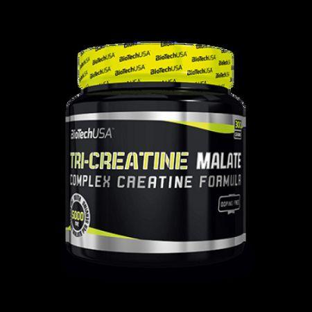 BioTech Tri Creatine Malate - erő- és teljesítmény növelő, 300 g