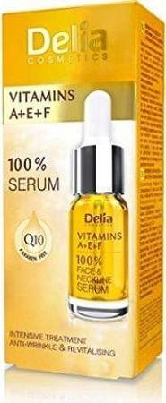 Delia Szérum A-e-f-vitaminokkal és Q10-zel Arc, Nyak, Dekoltázs, 10 ml