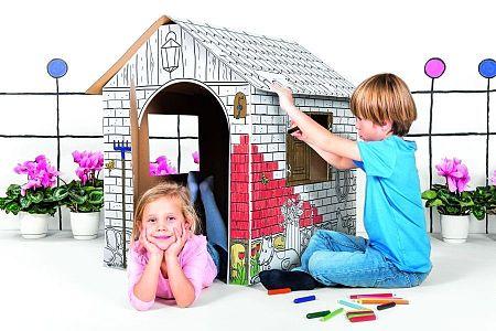 Karton házikó gyerekeknek Tektorado