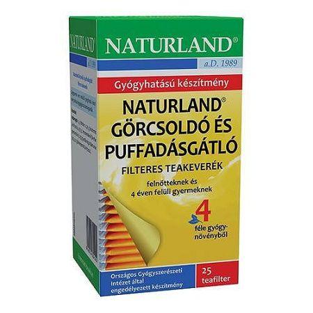 Naturland Görcsoldó és puffadásgátló tea filteres, 25x1,5g