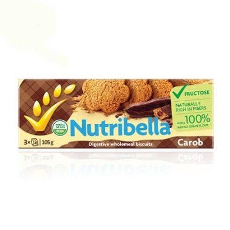 Nutribella diabetikus keksz karobos, 105 g