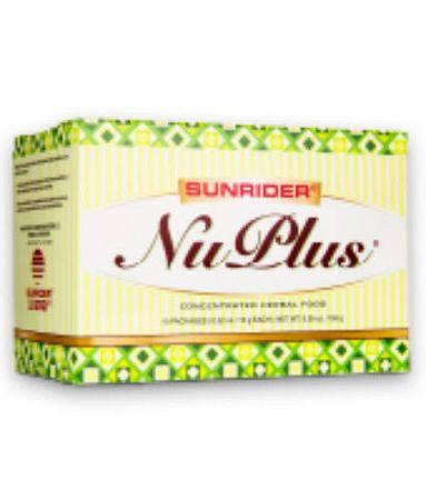 Sunrider Nuplus növényi élelmiszer Áfonyás, 10 x 15g